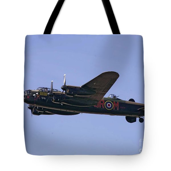 Avro 638 Lancaster At The Royal International Air Tattoo Tote Bag by Paul Fearn