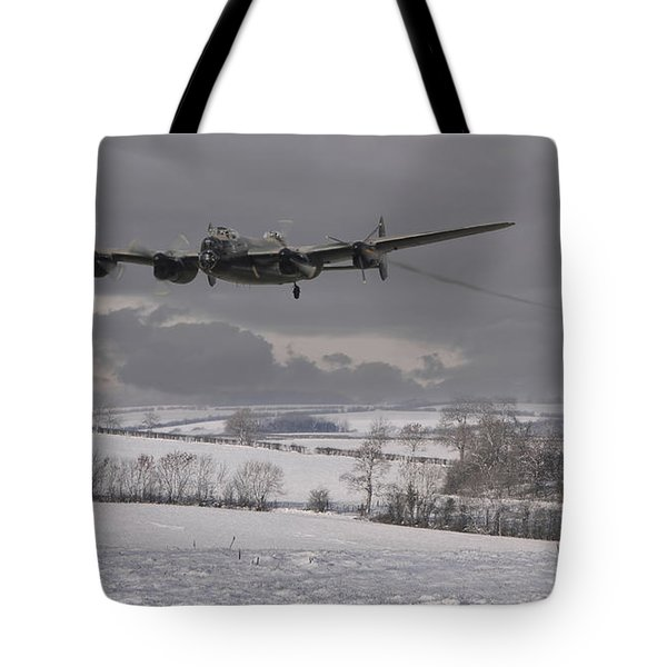Avro Lancaster - Limping Home Tote Bag by Pat Speirs