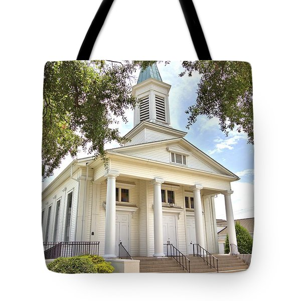 Tote Bag featuring the photograph Awaiting The Congregation by Gordon Elwell