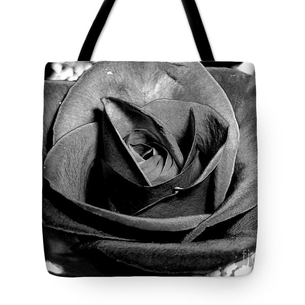 Tote Bag featuring the photograph Awakened Black Rose by Nina Ficur Feenan