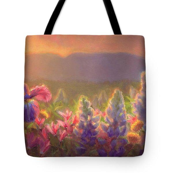 Awakening - Mt Susitna Spring - Sleeping Lady Tote Bag