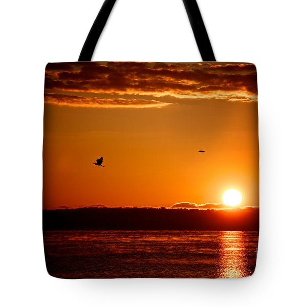 Tote Bag featuring the photograph Awakening Sun by William Norton