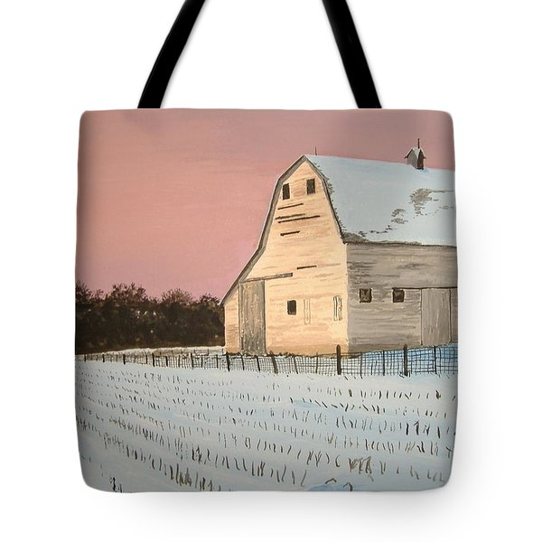 Award-winning Original Acrylic Painting - Nebraska Barn Tote Bag by Norm Starks