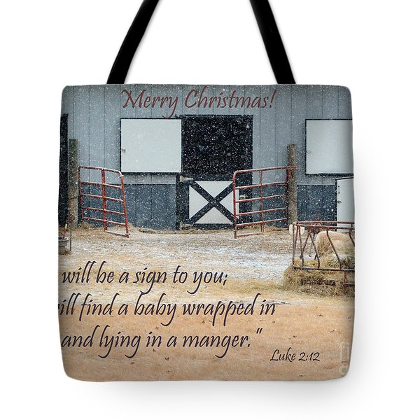 In A Manger Tote Bag