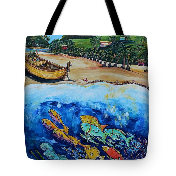 Away With The Fishes Tote Bag