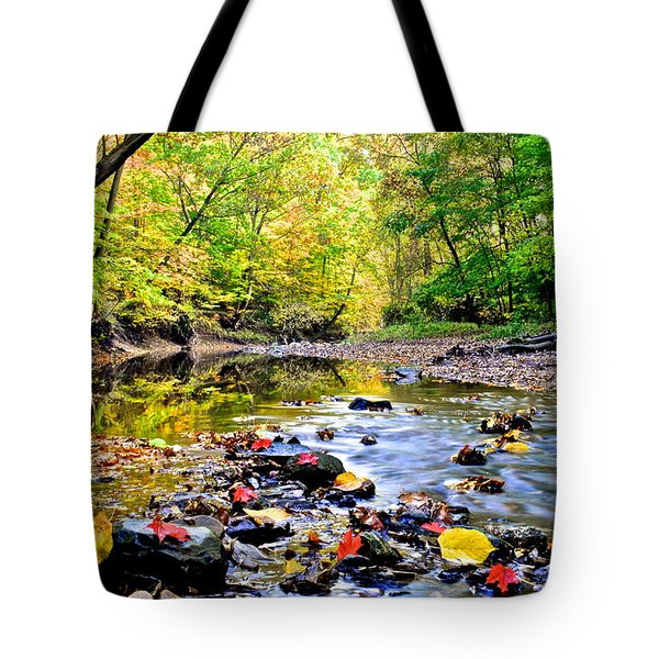 Awesome Autumn  Tote Bag by Frozen in Time Fine Art Photography