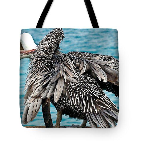 Awkward Pelican Tote Bag by Jean Noren