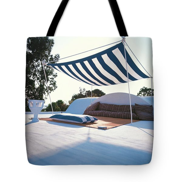 Awning At The Vacation Home Of Gaston Berthelot Tote Bag