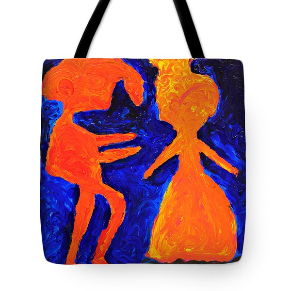 Tote Bag featuring the painting Aww Come On by Lola Connelly