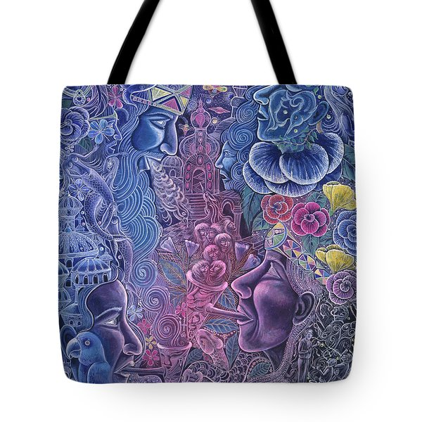 Ayari Warmi Tote Bag by Pablo Amaringo