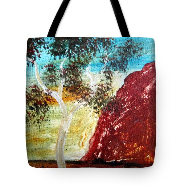 Tote Bag featuring the painting Ayers Rock Australia Uluru 2 by Roberto Gagliardi
