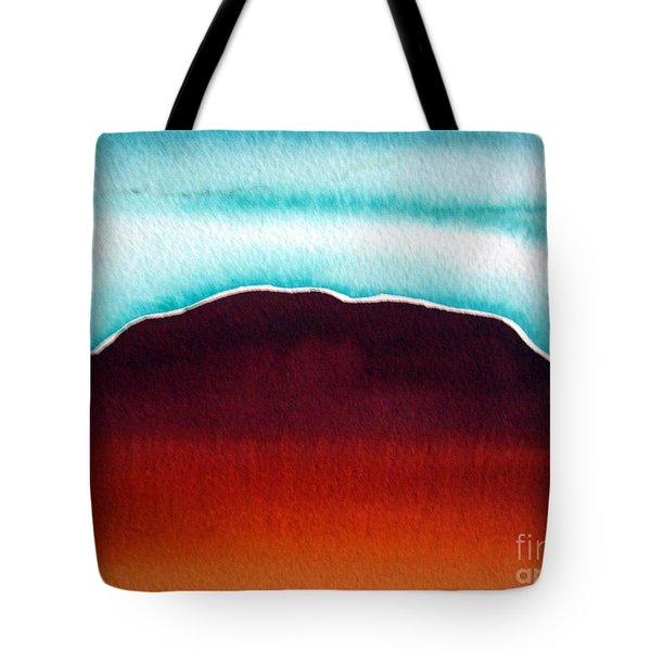 Tote Bag featuring the painting Ayers Rock Australia Uluru 3 by Roberto Gagliardi