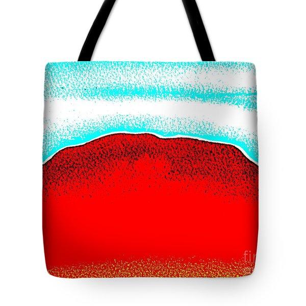 Tote Bag featuring the painting Ayers Rock Australia Uluru 4 by Roberto Gagliardi