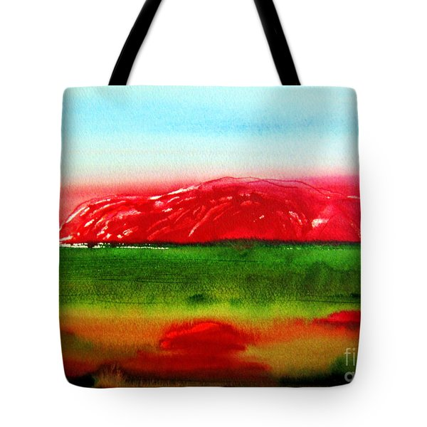Tote Bag featuring the painting Ayers Rock Australia Uluru by Roberto Gagliardi