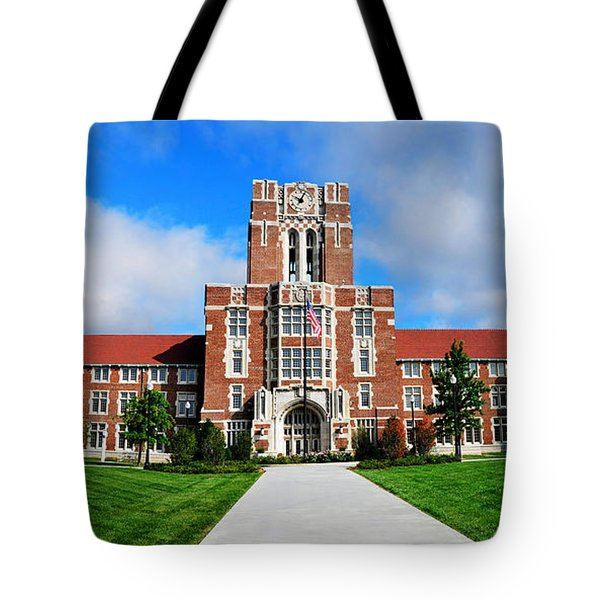 Tote Bag featuring the photograph Ayres Hall by Paul Mashburn