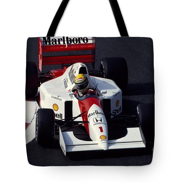 Ayrton Senna. 1992 French Grand Prix Tote Bag