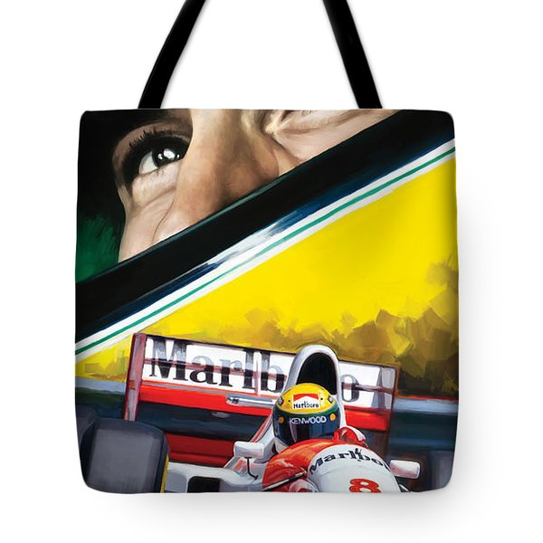 Ayrton Senna Artwork Tote Bag