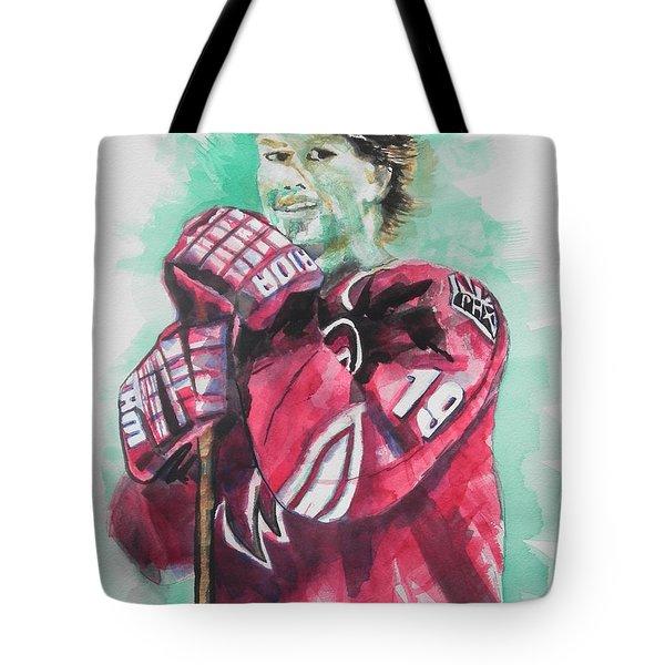 Az Coyotes ...hockey Player Shane Doan Tote Bag by Chrisann Ellis