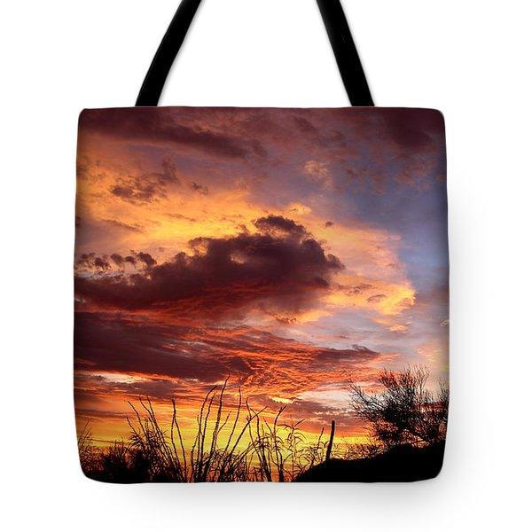 Az Monsoon Sunset Tote Bag
