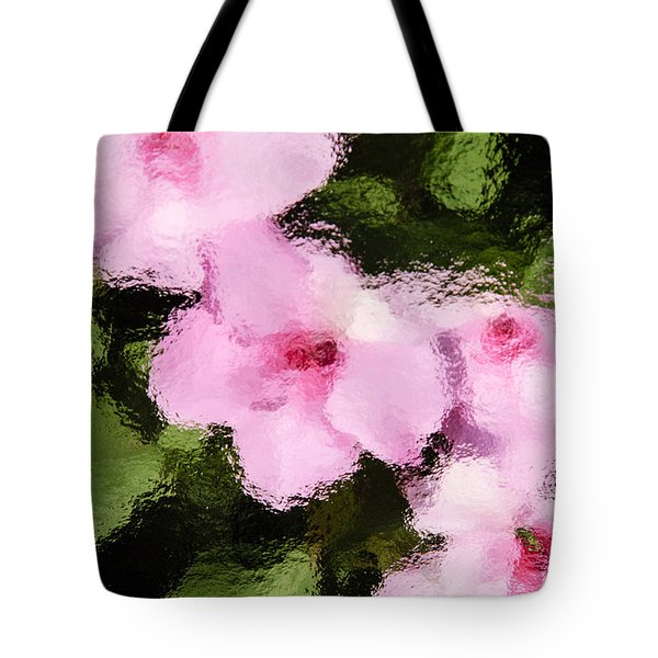 Azaelas Under Glass Tote Bag