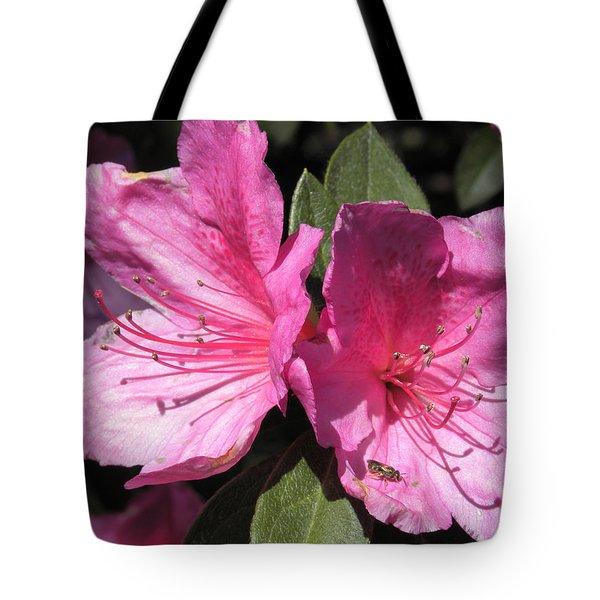 Azaleas Bee Tote Bag