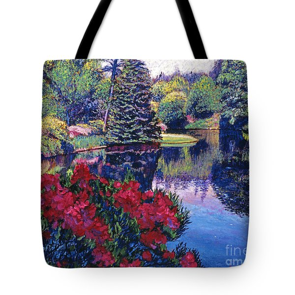 Azaleas In Spring Tote Bag by David Lloyd Glover