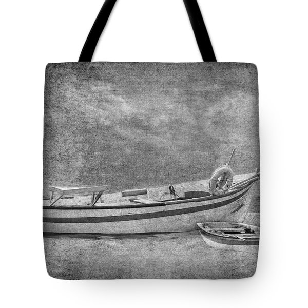 Azorean Fishing Boats B/w Tote Bag
