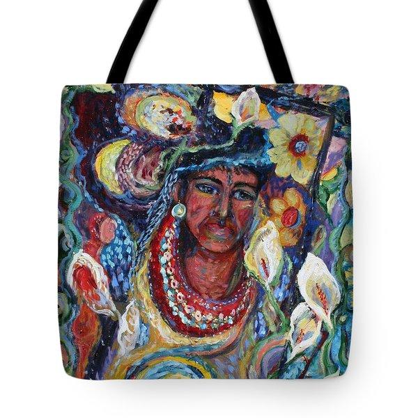 Aztec Garden Tote Bag