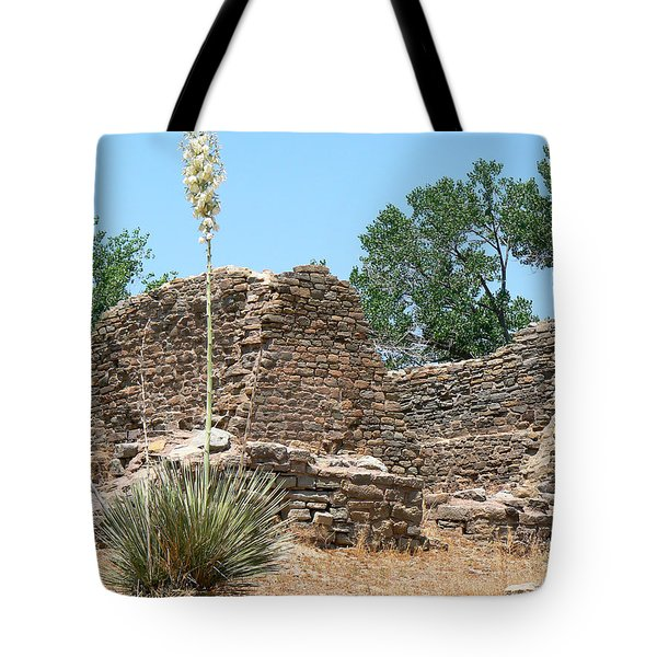 Aztec Ruins National Monument Tote Bag by Laurel Powell
