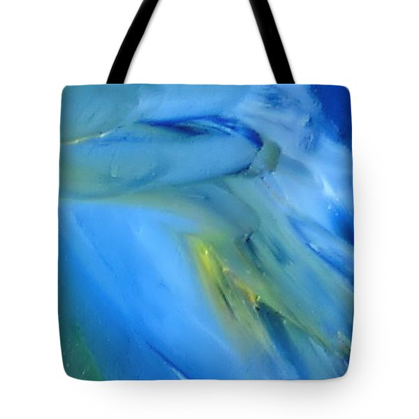 Tote Bag featuring the painting Azul by Reina Resto