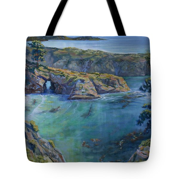 Azure Cove Tote Bag by Heather Coen