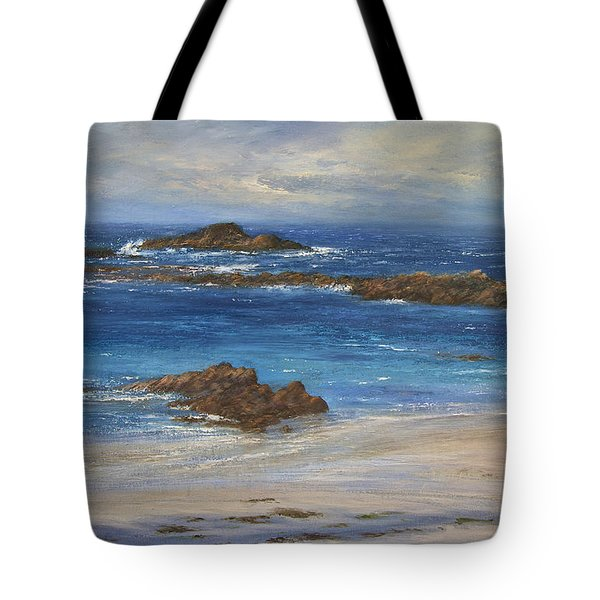Azure Tote Bag by Valerie Travers