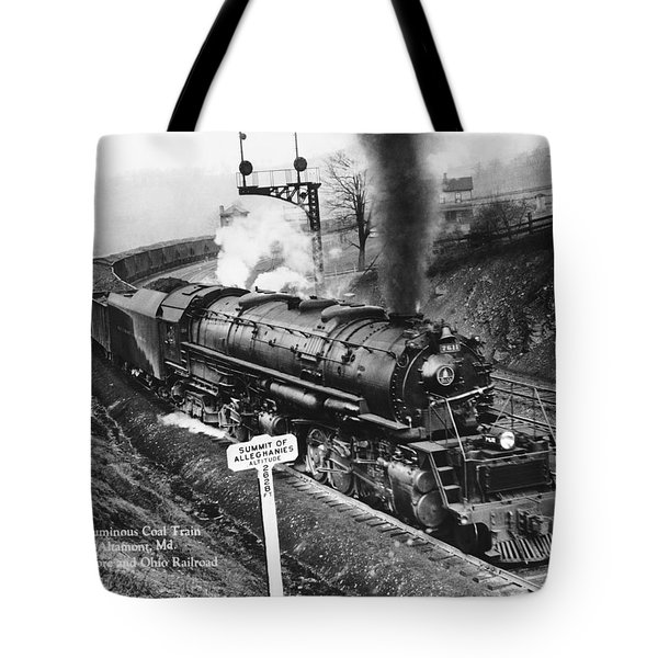 B & O Railroad Coal Train Tote Bag