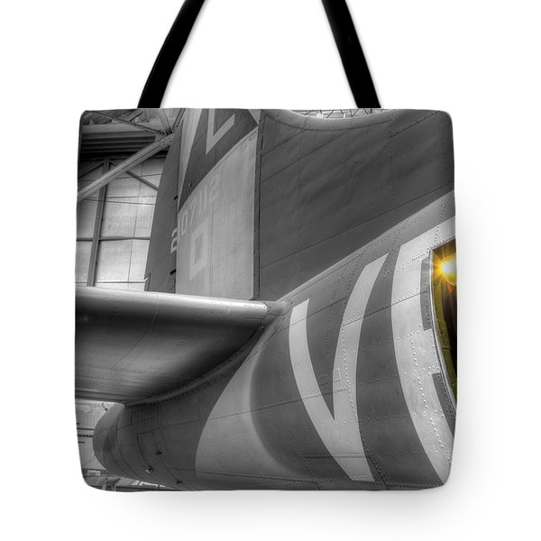 B-17 Bomber Tail Tote Bag
