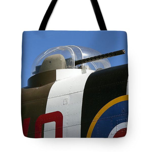 B-25 Bomber Machine Gun Turret Tote Bag