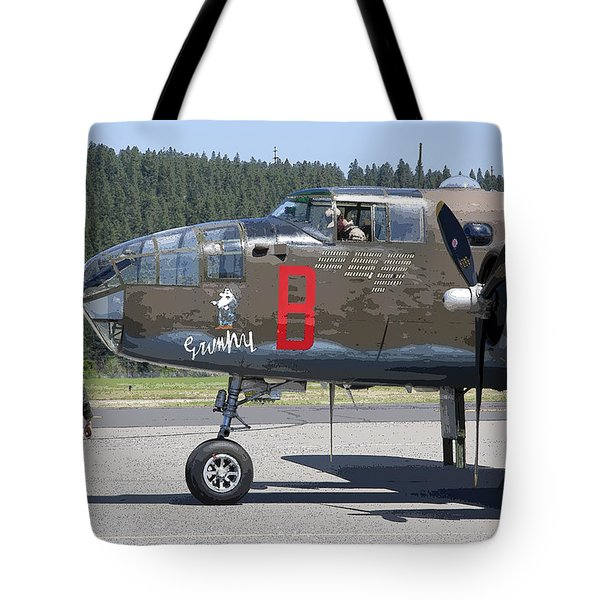 B-25 Bomber Pre-flight Check Tote Bag by Daniel Hagerman