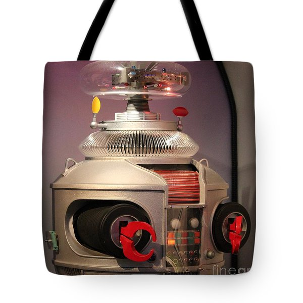 Tote Bag featuring the photograph B-9 Robot From Lost In Space by Cynthia Snyder