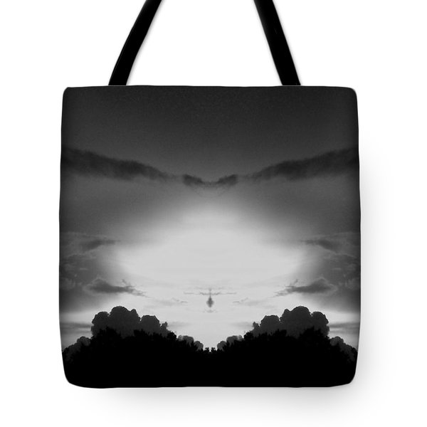 Helicopter And Stormy Sky Tote Bag
