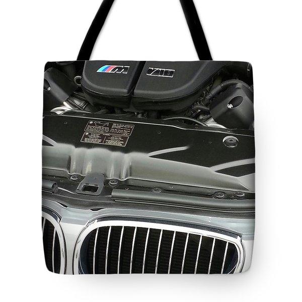 B M W M5 V10 Motor Tote Bag