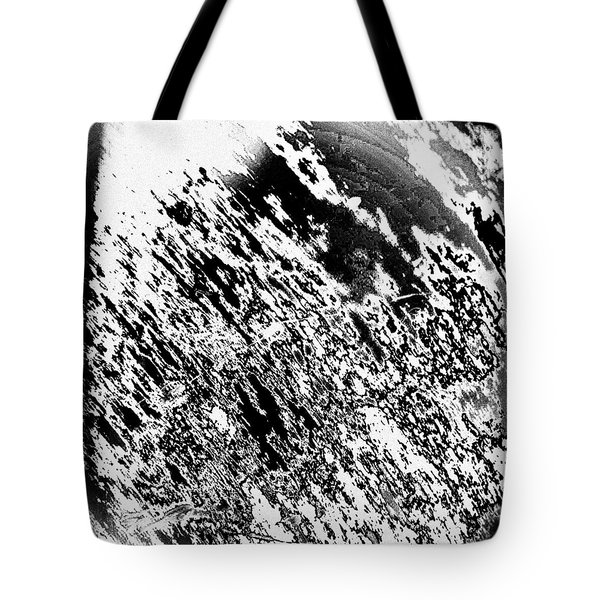 B 'n' W Abstract Tote Bag