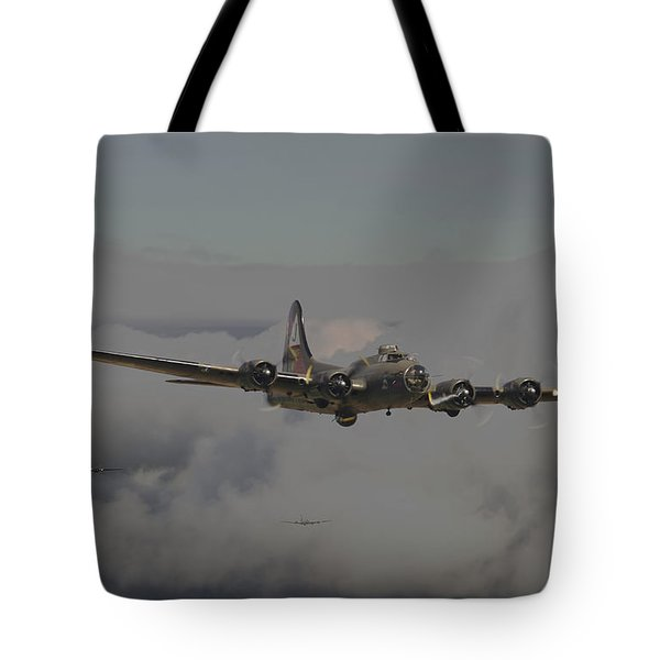 B17 Outbound - 'heavy Weather' Tote Bag by Pat Speirs