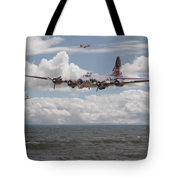 B17 The Hardest Mile Tote Bag by Pat Speirs