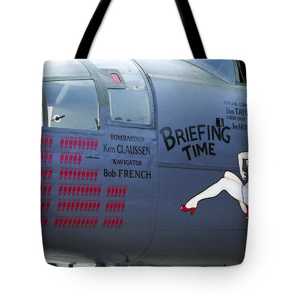 B25j Mitchell Briefing Time Tote Bag