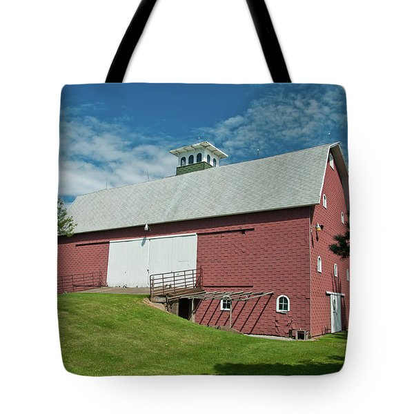 Tote Bag featuring the photograph Babcock Barn 2263 by Guy Whiteley