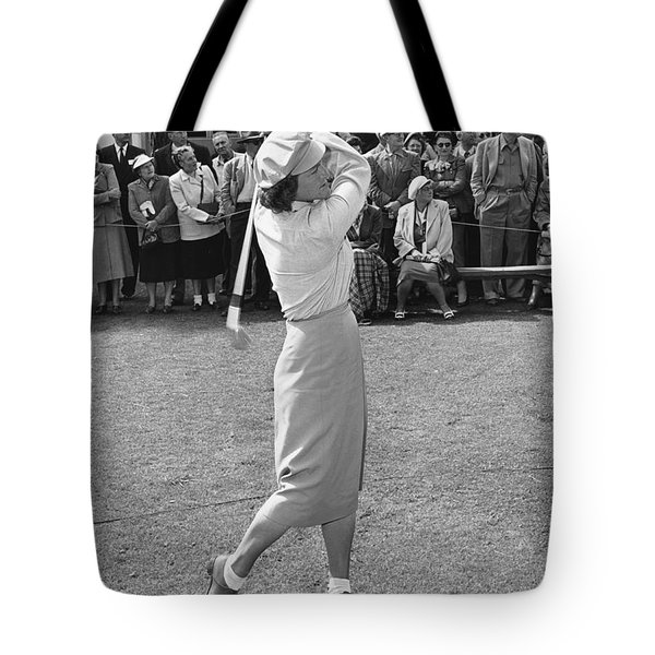 Babe Didrikson Teeing Off Tote Bag