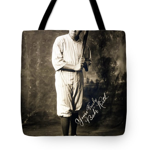 Babe Ruth 1920 Tote Bag by Mountain Dreams