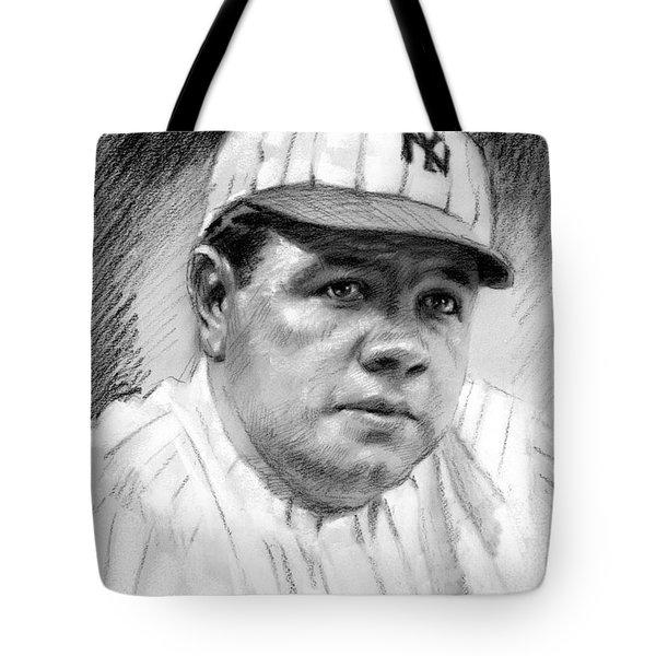 Babe Ruth Tote Bag by Viola El