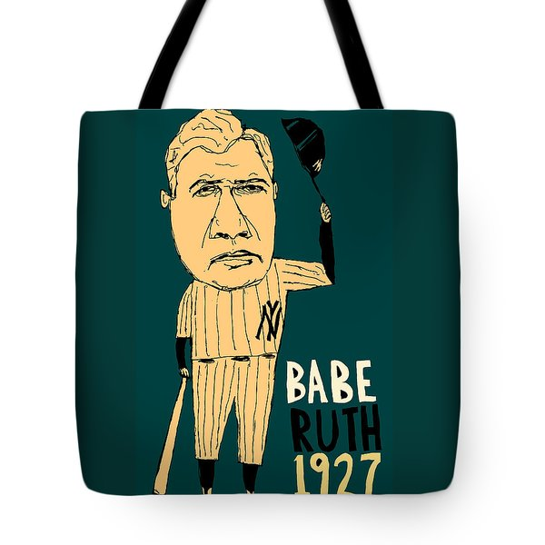 Babe Ruth New York Yankees Tote Bag by Jay Perkins