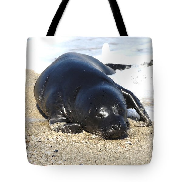 Babies Day At The Beach Tote Bag by Ruth Jolly