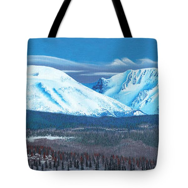 Babine Mountain Range Tote Bag